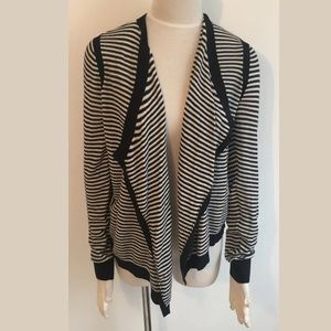 Ann Taylor LOFT Open Cardigan Striped Sweater S